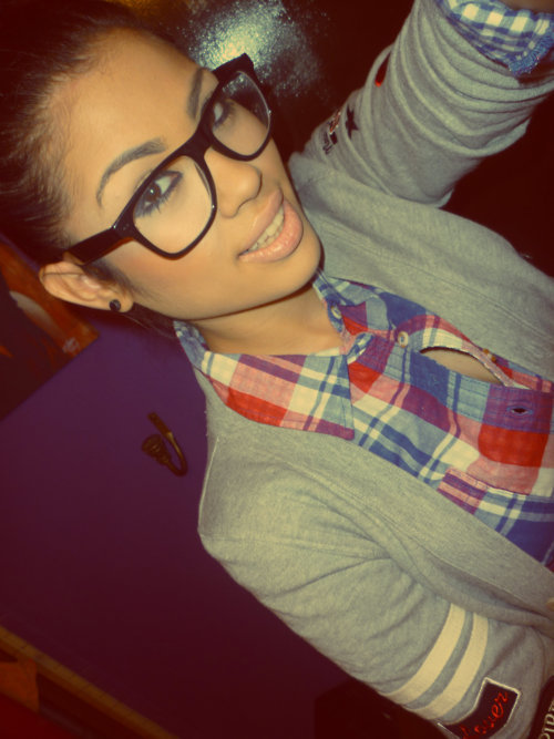 black earrings, blue, gray, nerd glasses, photography, plaid shirt, pretty girls, red, swag, varsity cardigan, white, with stripes