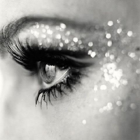 black eyeliner, eye, glitters, make up