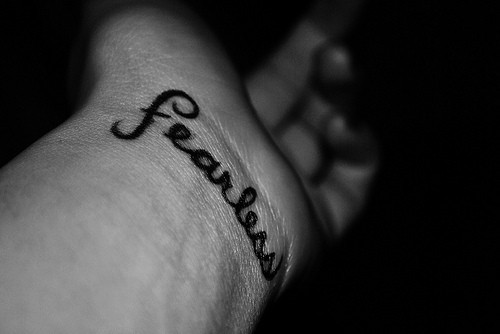 black, fearless, tattoo, text, white