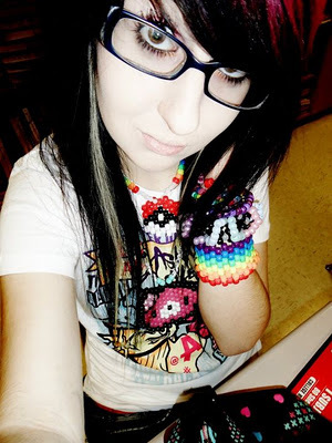 black hair, core, girl, glasses, lisaxlithiumm