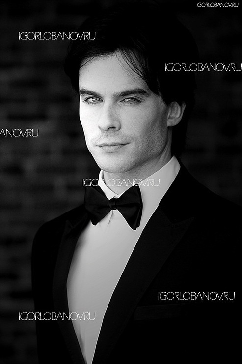 black&amp;white, boy, damon salvatore, handsome, hot