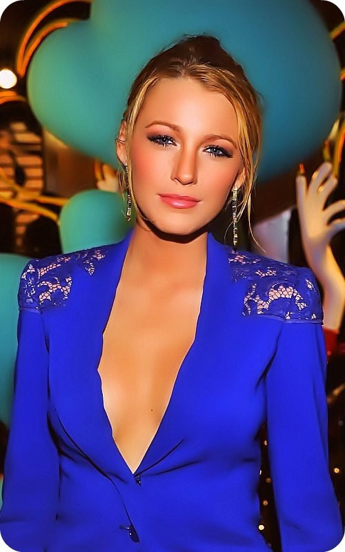 blake lively, blonde, blue, eyes, girl