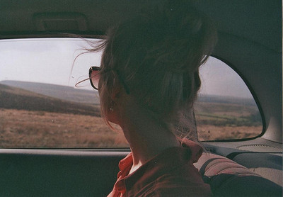 blonde, car, girl, hair, road trip