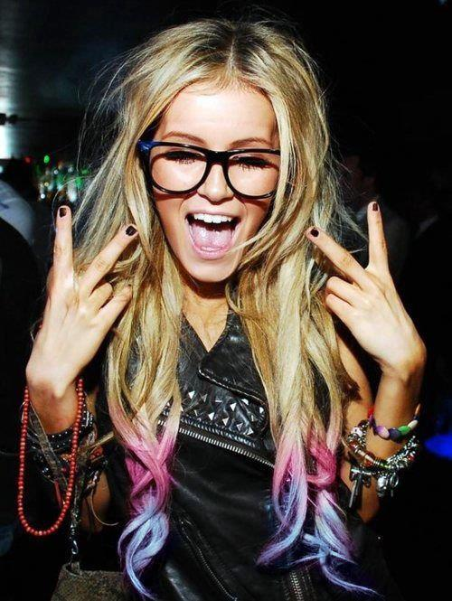blonde, color hair, cute, fashion, girl, hair, long hair, nails, party, peace, smile, style