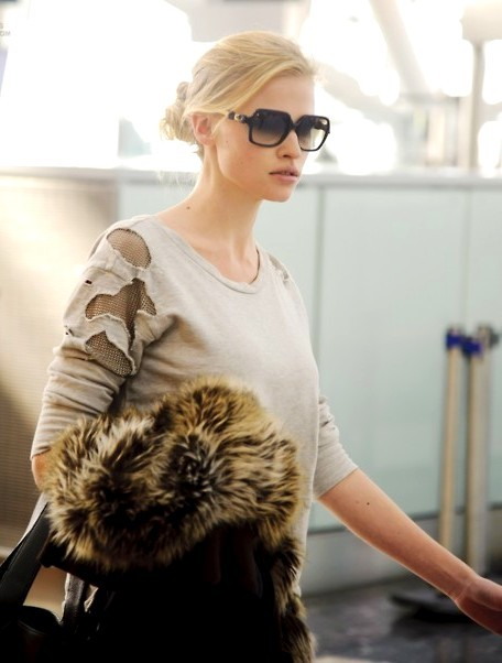 blonde, cute, fashion, girl, lara stone, models, pretty, street style, style, sunglasses