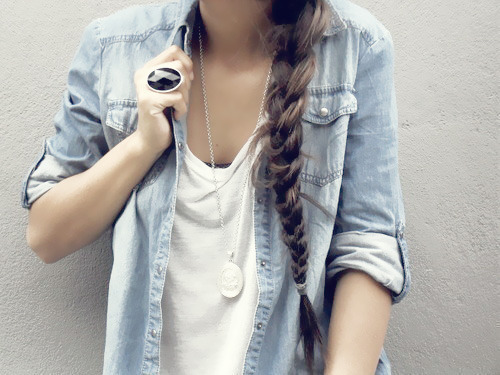 blue, braid, clothes, fashion, girl