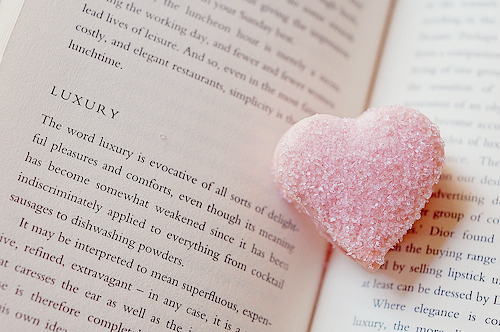 book, cute, gummy, heart, pastel, photography, pink, sugar, sweets, words