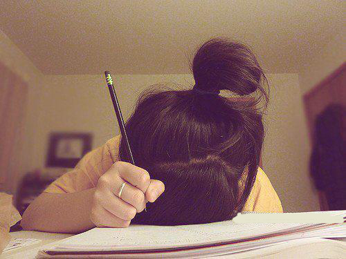 book, girl, notebook, pencil, photo