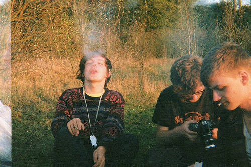 boy, camera, cigarette, cute, friends