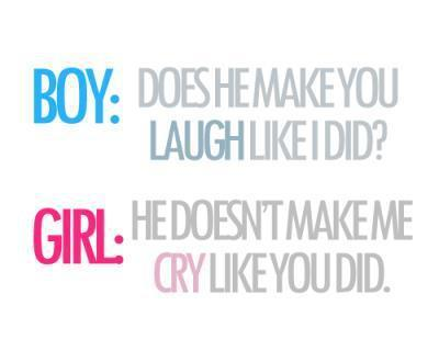 boy, cry, girl, laugh, quotes