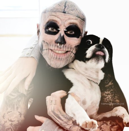 boy, dog, happy, man, random hands, rick, tatoo, tattoo