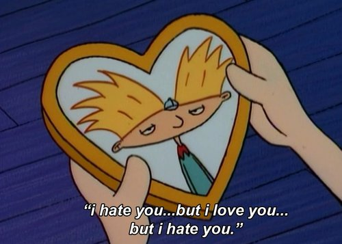 boy, girl, hey arnold, hey arnold!, i hate you, i love you, love