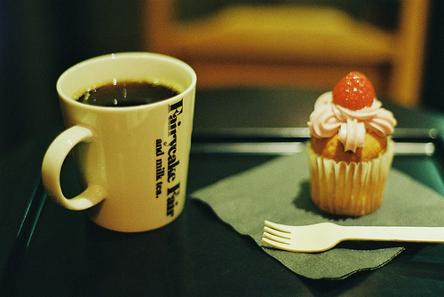 breakfast, coffee, cupcake, morning