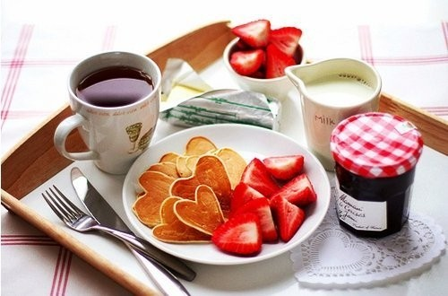 breakfast, coffee, cute, food, fruit, milk, morning, photo