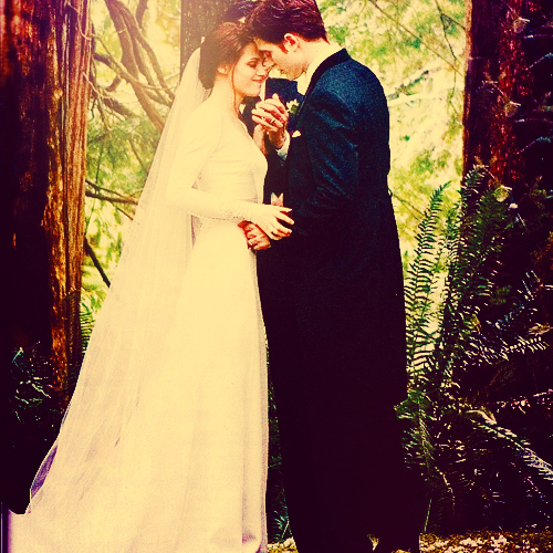 breaking dawn, edward and bella, kristen stewart, love, robert pattinson, robsten, wedding