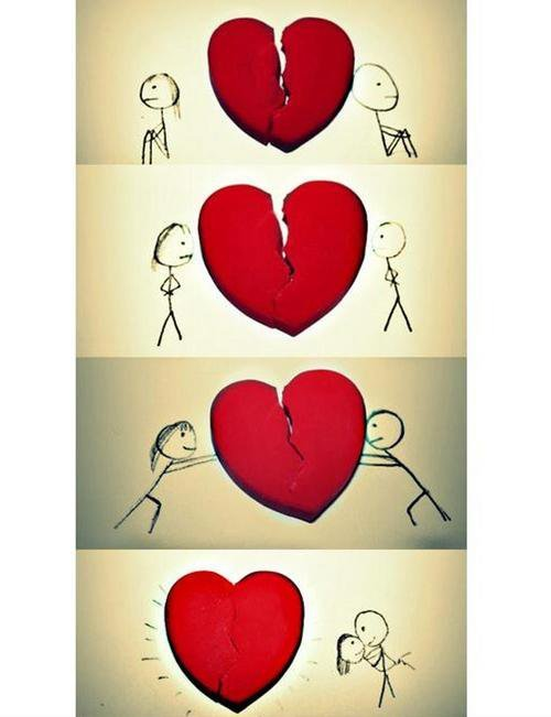 broken heart cool cute drawing love image 270386 on