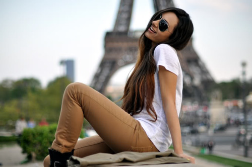 brown hair, clothes, cute, fashion, girl