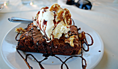 brownie, chocolate, food, ice cream