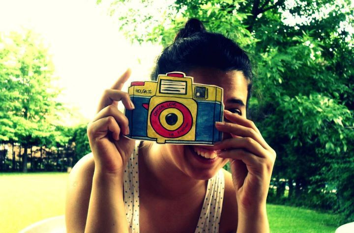 camera, girl, holga, photography