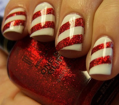 candy canes, candycane, christmas and nail