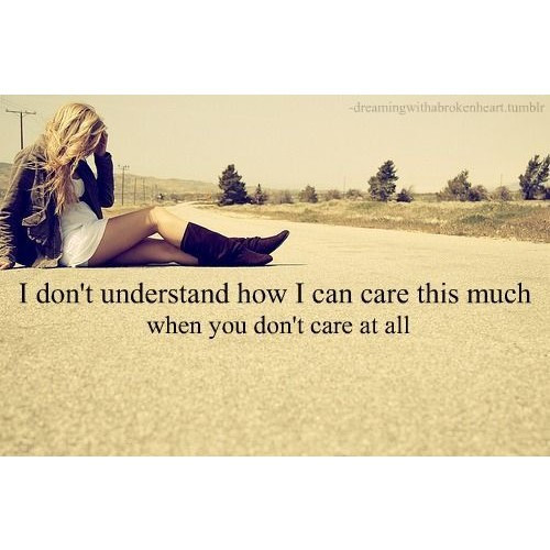 care, girl, quote, sad, text