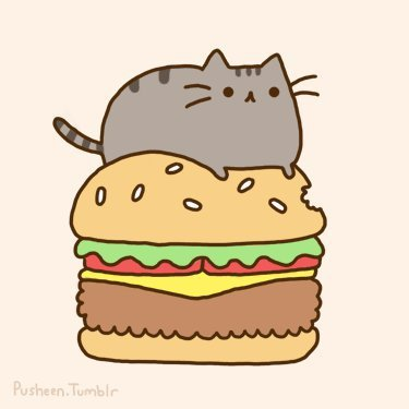 cat, cute, meow, pretty, pusheen, pusheen the cat, sandwich, sweet