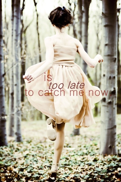 catch me, cute, demi, dress, girl, late, quote, run, text, vintage