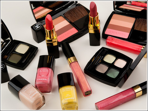 chanel, cosmetics, lipstick, make up, pink