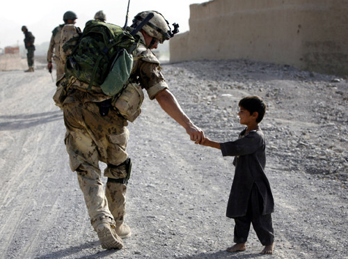child, helping, soldier, sweet, war