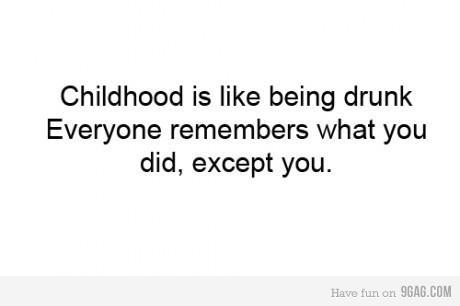 childhood, drunk, funny, kid, lol, memory