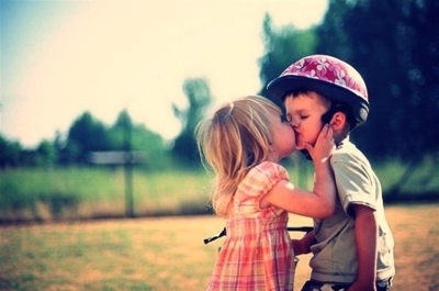 children, kids, kiss, love
