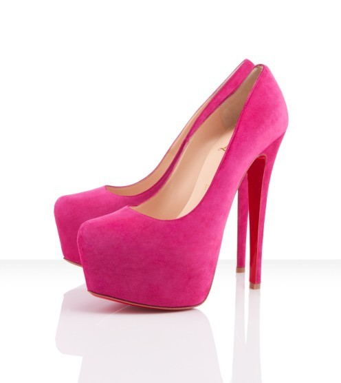christian louboutin, fashion, high heels, pink