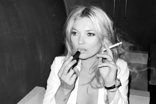 cigarettes, fashion, kate, kate moss, lipstick, make up, model