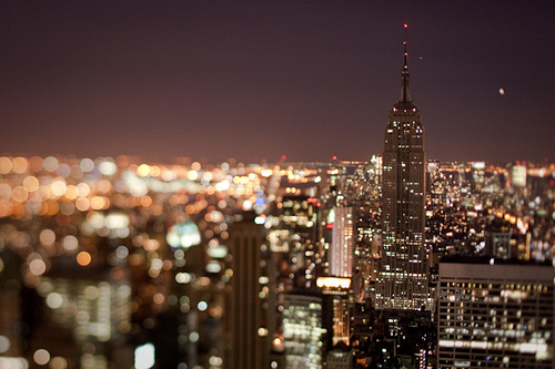 city, lights, new york, sky, town