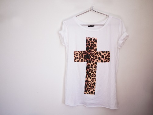 clothes, fashion, girl, leopard, tshirt