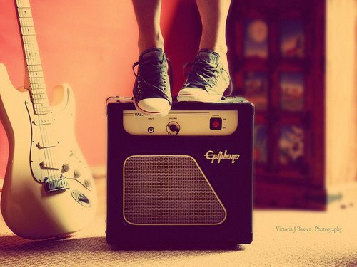 converse, electric, guitar, music, shoes