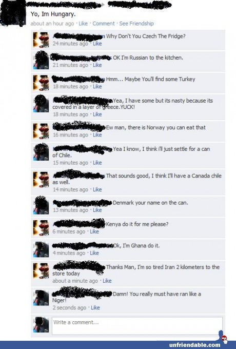countries, facebook, funny