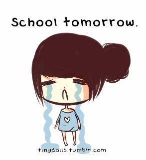 cry, cute, doodle, drawing, girl, girly, paint, sadness, school, school tommorrow