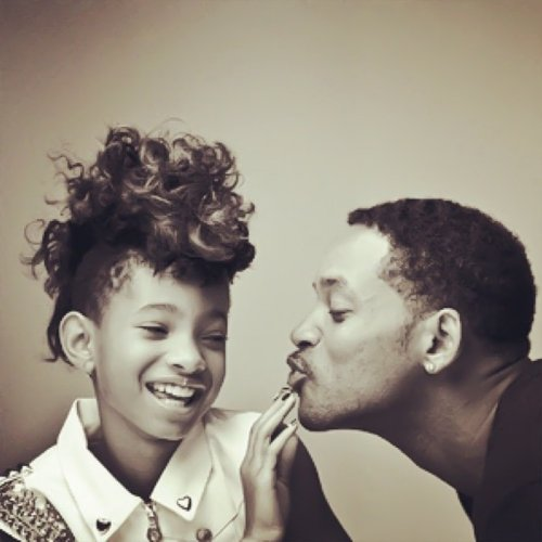 cute, daughter, father, funny, hair, laugh, lol, pretty, text, will smith, willow smith