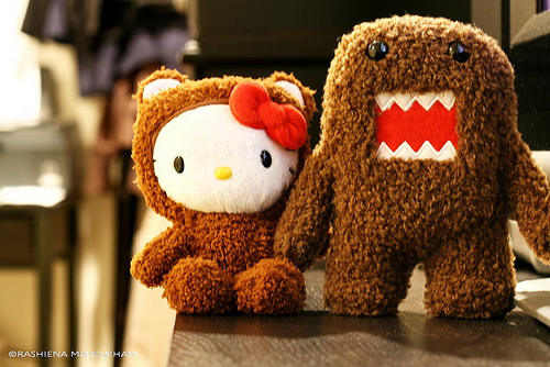 cute, domo, hello kitty, kawaii, love