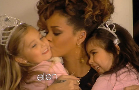 cute, ellen, kids, kiss, love, rihanna, smile, sophia grace and rosie
