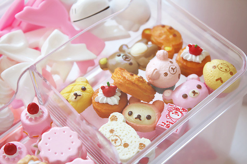 cute, girl, girly, japan, kawaii, lovely, milk, nice, phone, pink, rilakkuma, shop, sweet, tokyo