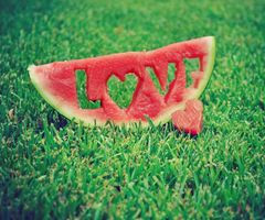 cute, green, love, pink, watermellon