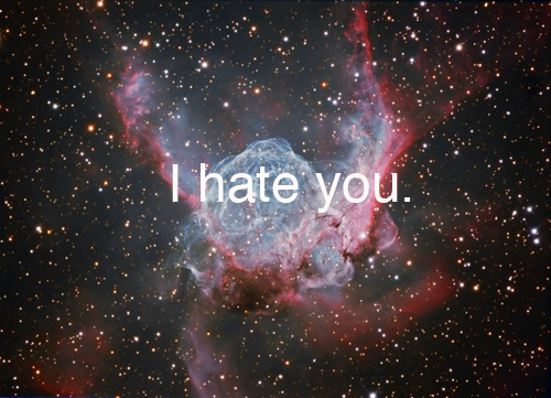 cute, hate, hipster stars, stars, text, you