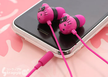 cute, headphones, hello kitty, iphone, pink