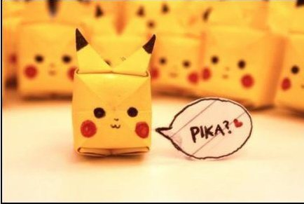 cute, heart, kawaii, origami, pikachu