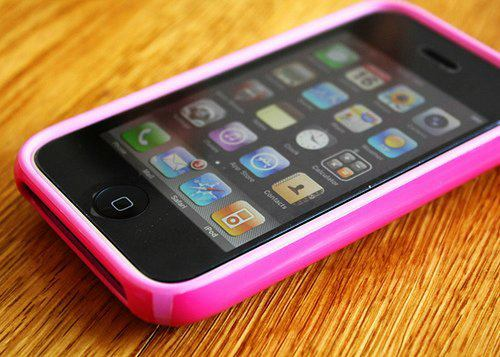 cute, iphone, ipod, phone, pink