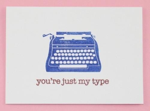 cute, letter, text, type write, typography