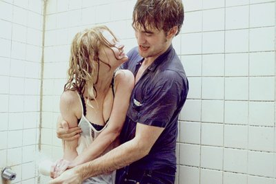 cute, love, movie, remember me, robert pattinson, shower