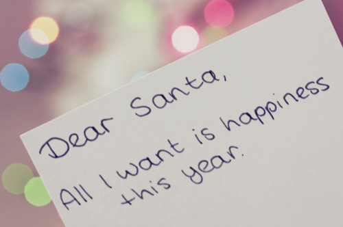 dear santa, ejnoy, happiness, lights, new year, santa, text